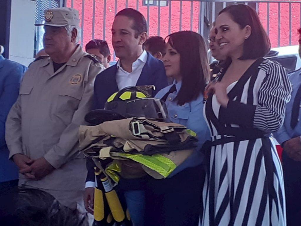 Pancho Dominguez celebro Dia del Bombero en SJR