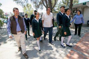 Invierte municipio 1.7 mdp en mejoras a CONALEP y escuela primaria