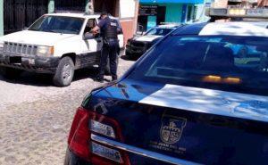 Detiene SPM a cuatro personas con una camioneta reportada como robada. 1