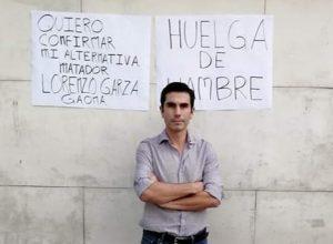 Torero Lorenzo Garza en huelga de hambre por negativa de alternativa 1
