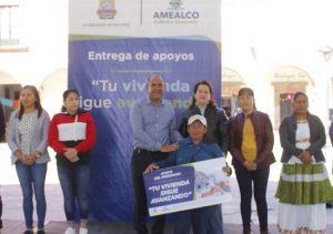 Entregan 165 apoyos de vivienda a habitantes de Amealco 1