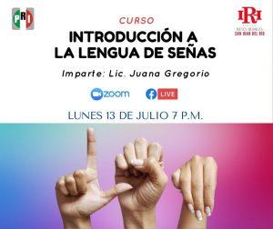 Organiza Instituto Reyes Heroles curso Introducción a la lengua de señas 1