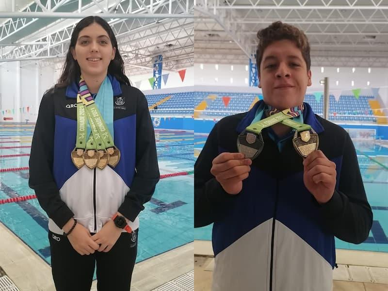 Nadadores queretanos destacan en los Juegos Nacionales CONADE 2021