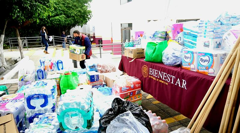Bienestar Queretaro realizo envio de ayuda ciudadana a familias de Tula Hidalgo 1