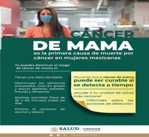 Secretaría de Salud se une al Mes de la Sensibilización sobre el Cáncer de Mama