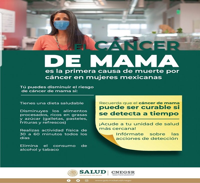 Secretaria de Salud se une al Mes de la Sensibilizacion sobre el Cancer de Mama